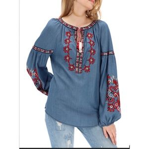 DESIGUAL EMBROIDERED BLOUSE